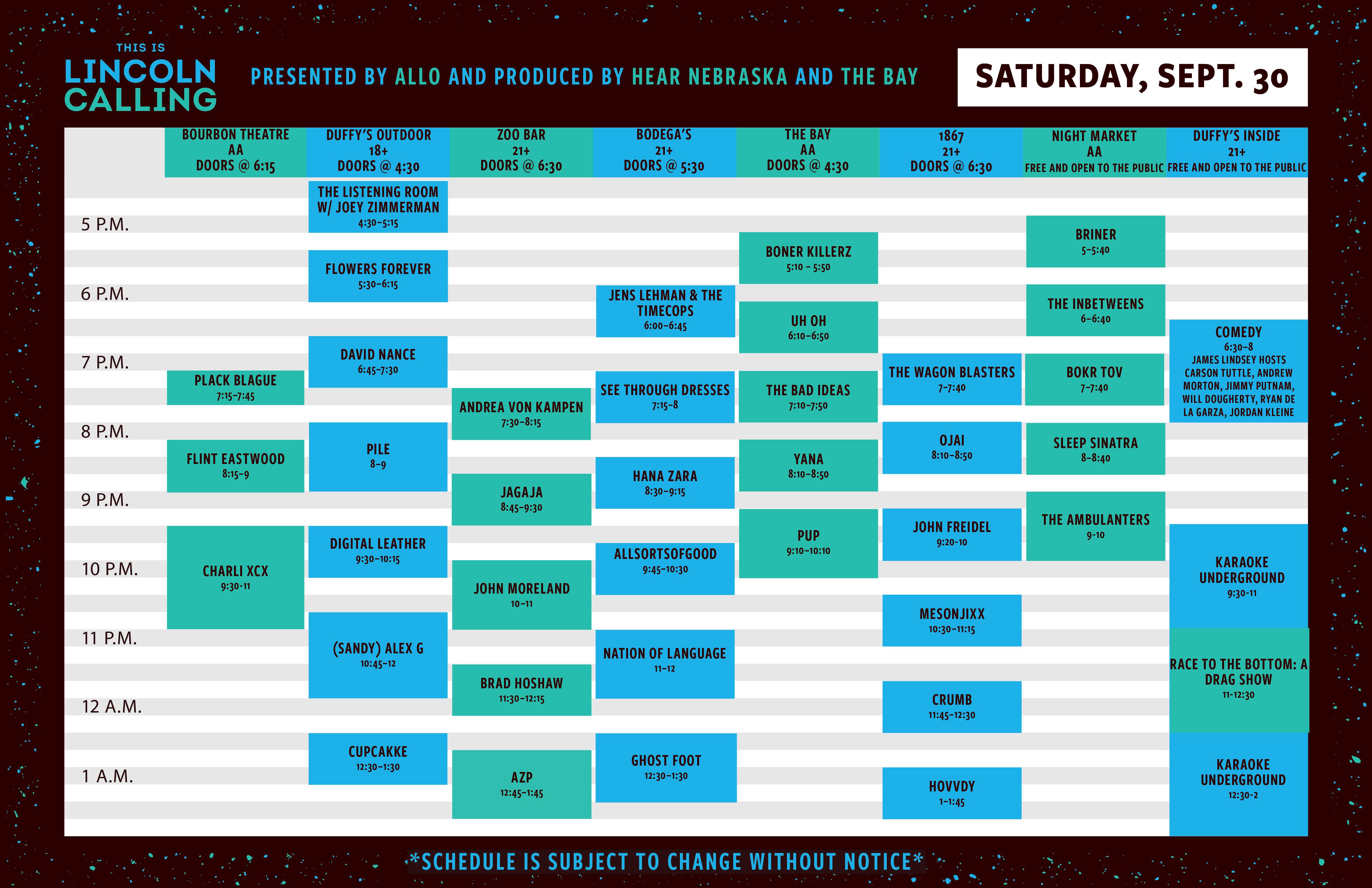 The 2017 Lincoln Calling Music Festival Digital Guide